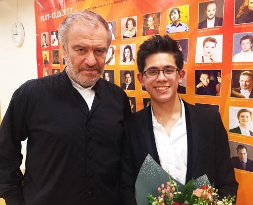 With Valery Gergiev after performing Rachmaninoff Piano Concerto No.2 at the Mariinsky Theatre in Vladivostok